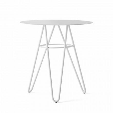 Vzácný venkovní konferenční stolek z HPL a bílého kovu vyrobený v Itálii - Dublin