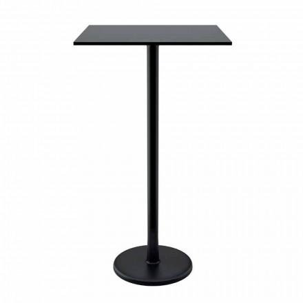 High Square konferenční stolek v litinovém kovu a HPL pro venkovní provedení v Itálii - Clint