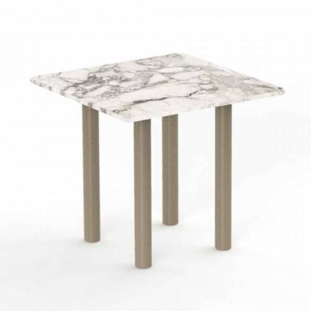 Hliníkový a Gres Square konferenční stolek pro venkovní - Panama Talenti