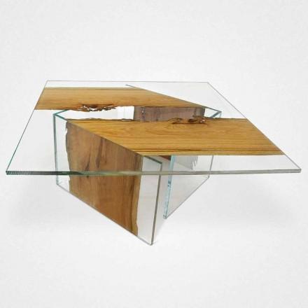 Tabulka delfín čtvereční dřevěný benátské laguně a skla