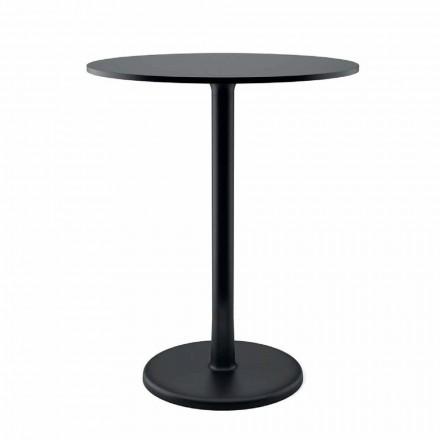 Kulatý venkovní stolek v kovu, litině a HPL vyrobený v Itálii - Brooks