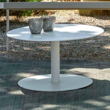 Kulatý zahradní stolek z bílého hliníku nebo uhlí - klíč od Talenti