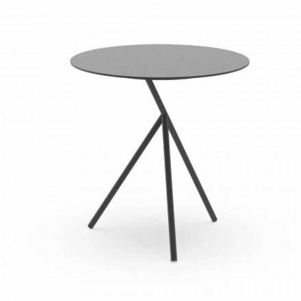 Kulatý zahradní stolek z bílého nebo uhlíkového hliníku - Sofy od Talenti