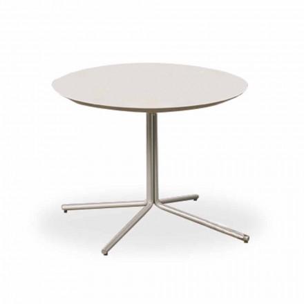 Kulatý konferenční stolek v bílé MDF moderního designu 2 velikosti - Geone