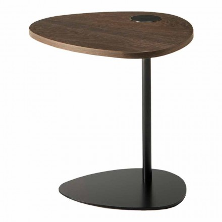Konferenční stolek do obývacího pokoje z kovu a dřeva, luxusní design - Yassine