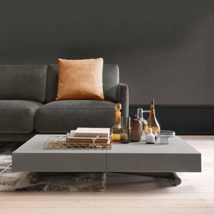 Moderní transformační konferenční stolek s efektem Malta vyrobený v Itálii - Patroclo