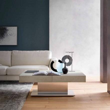 Moderní transformovatelný konferenční stolek, efekt malty, vyrobený v Itálii - Salomon