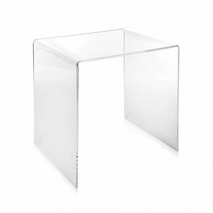 transparentní moderní design konferenční stolek 40x40cm Terry Malý, made in Italy