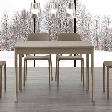 Rozkládací stůl s nohami z masivního dřeva Empoli, moderní design