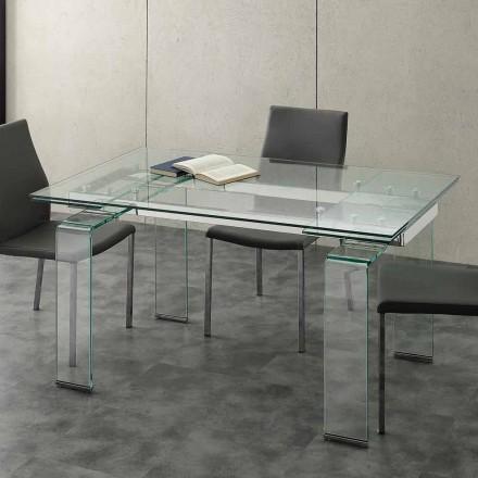 Prodloužení stolu s tvrzeného skla Pánem