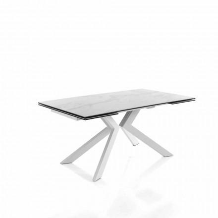 Moderní kuchyňský výsuvný stůl ze sklokeramiky - Vinicio