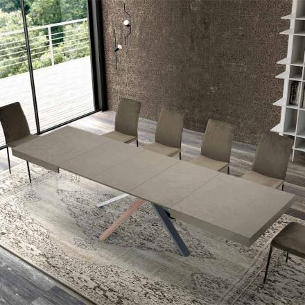 Rozkládací jídelní stůl v moderním designovém dřevě do 3,1 m - Argentario