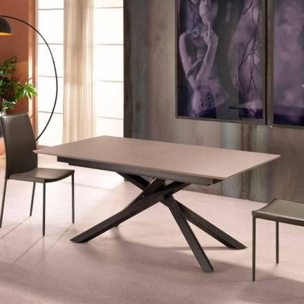 Rozkládací designový stůl s kovovými nohami, Lucera