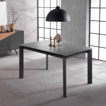 Rozšiřitelný designový stůl s keramickou deskou a mdf, Nosate