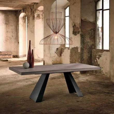 Rozšiřitelný designový stůl z dubového dřeva vyrobený v Itálii Zerba