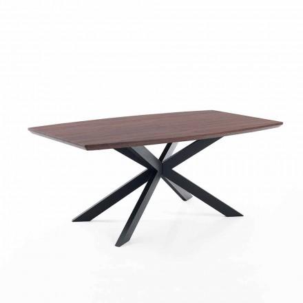 Design rozšiřitelný stůl v Mdf a kovu - Torquato