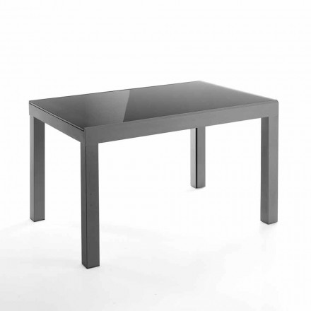Designový rozšiřitelný stůl ze skla a kovu - Guerriero
