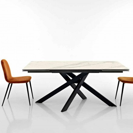 Rozšiřitelný designový stůl ze skleněné keramiky vyrobený v Itálii, Dionigi