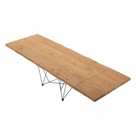 Rozkládací stůl až do 300 cm v benátském dřevu vyrobeném v Itálii - Ezzellino