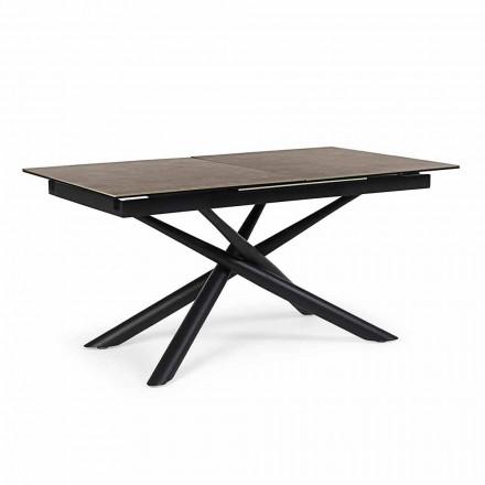 Roztažitelný stůl až do 220 cm v keramickém a ocelovém Homemotion - Brianza