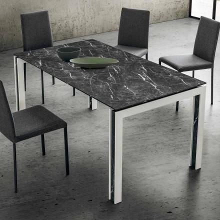 Rozkládací stůl do 240 cm v laminátu, dřevě a HPL vyrobený v Itálii - Polo