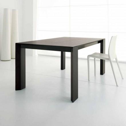 Roztažitelný stůl až 245 cm ve dřevě Wengè Oak Wood podle designu - Ipanemo