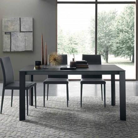 Roztažitelný stůl až 250 cm se skleněnou deskou vyrobené v Itálii - Pitagora