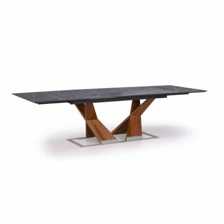 Roztažitelný stůl až 294 cm s deskou Gres Made in Italy - Monique