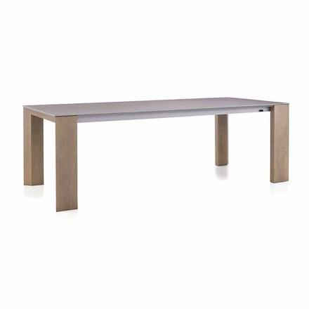Roztažitelný stůl až do 300 cm v keramických a dřevěných nohách - Ipanemo