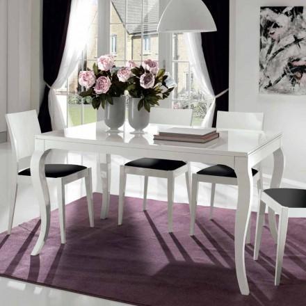 Rozkládací stůl až 350 cm v lesklé bílé Tanganika Walnut - Leomas