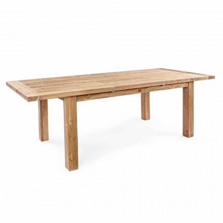 Rozkládací dřevěný zahradní designový stůl pro 6 osob Homemotion - Hunter