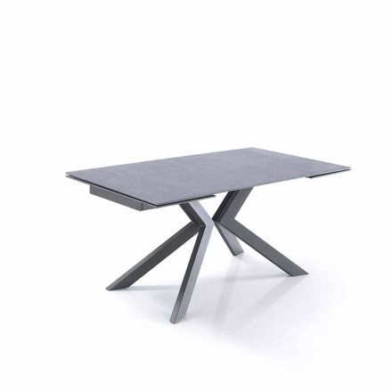 Designový výsuvný stůl ze skla a kovu - Piersilvio