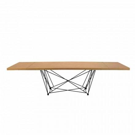 Moderní rozšiřitelná stolní sedadla 14 s laminátovou deskou Vyrobeno v Itálii - Ezzellino