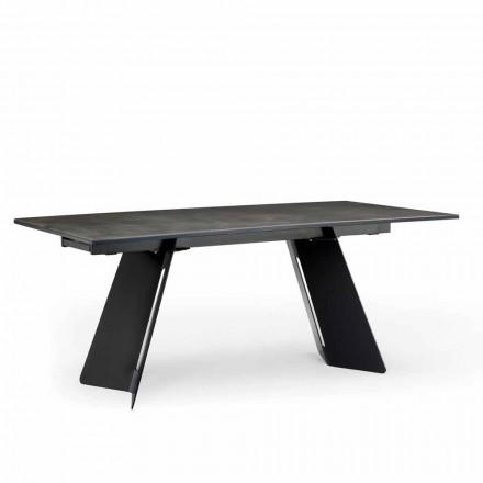 Moderní rozkládací stůl s kameninovou deskou vyrobený v Itálii, Erve