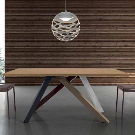 Moderní výsuvný stůl s laminovanou dřevěnou deskou Vyrobeno v Itálii - Settimmio