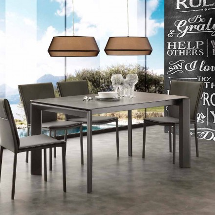 Moderní rozšiřitelné stůl s keramickou skleněnou horní Filadelfii
