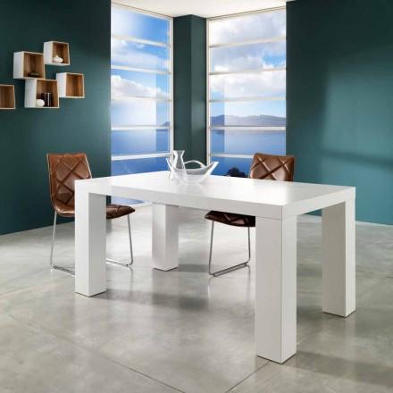 matný bílý lak povrch rozšiřitelná tabulka Contemporary Demy