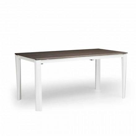 Moderní rozšiřitelný stůl v bílém popelu vyrobeném v Itálii, Medicina