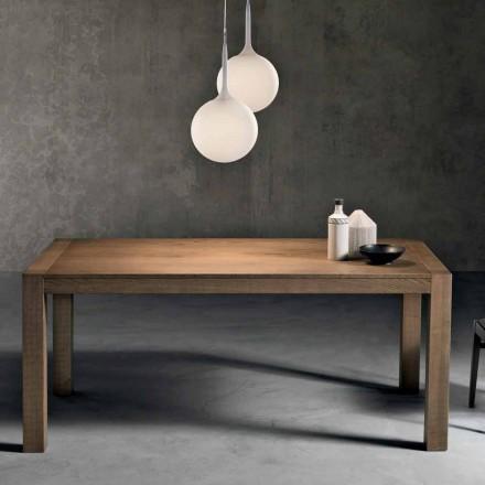 Moderní rozkládací stůl z jaseňového dřeva vyrobený v Itálii Parre