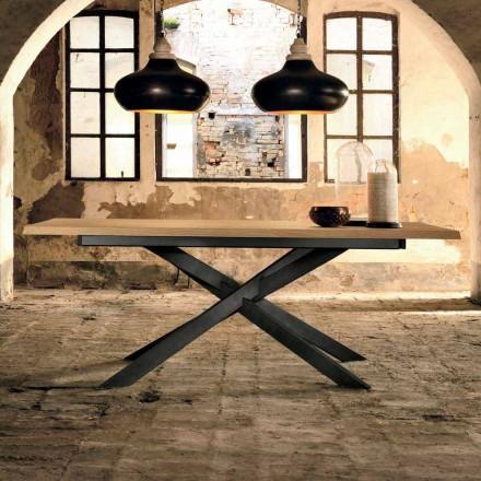 Designový výsuvný stůl z dubového dřeva vyrobeného v Itálii, Oncino
