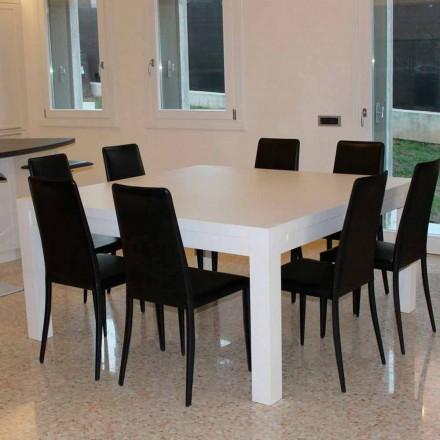 Moderní prodlužovací stůl z masivního dubového dřeva, 160x160cm, Jacob