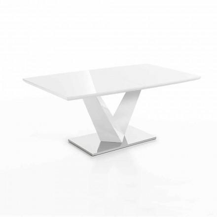 Moderní stůl rozšiřitelný až do 200 cm v Mdf a oceli - Sannio