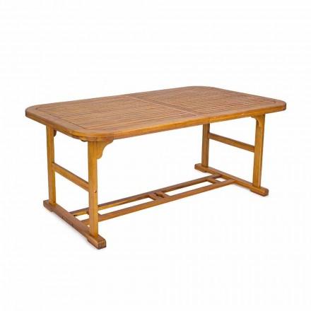Rozkládací stůl až 240 cm v zahradním dřevu, design - Roxen