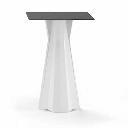 Vysoký stůl s deskou HPL a základnou z polyethylenu vyrobený v Itálii - Tinuccia