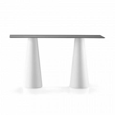 Venkovní vysoký stůl s obdélníkovou deskou v Hpl vyrobený v Itálii - Forlina