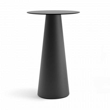 Venkovní vysoký stůl s kulatým stolem v Hpl vyrobený v Itálii - Forlina