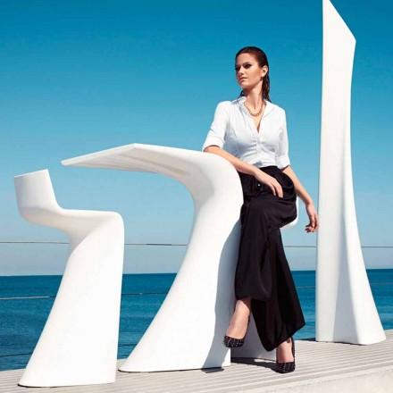 Vysoký venkovní stůl H 100 cm Wing Vondom, moderní design z polyethylenu