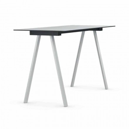Venkovní stolek z kovu a obdélníkového HPL vyrobený v Itálii - Devin