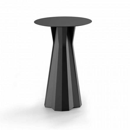 Vysoký polyetylénový stůl s kulatým povrchem Hpl vyrobený v Itálii - Tinuccia
