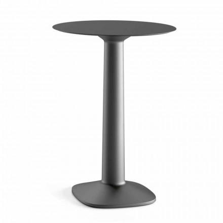 Kulatý vysoký stůl z polyethylenu s deskou Hpl Made in Italy - Pito